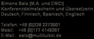 Multitulkki Konferenzdolmetscherin Und übersetzerin Für Deutsch